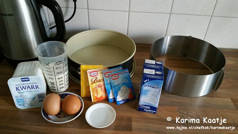 Ingrediënten van een makkelijk kwarktaart recept