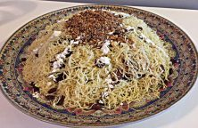 Traditionele Marokkaanse Seffa van vermicelli