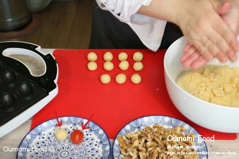 Lang houdbare walnootkoekjes kleine bolletjes maken