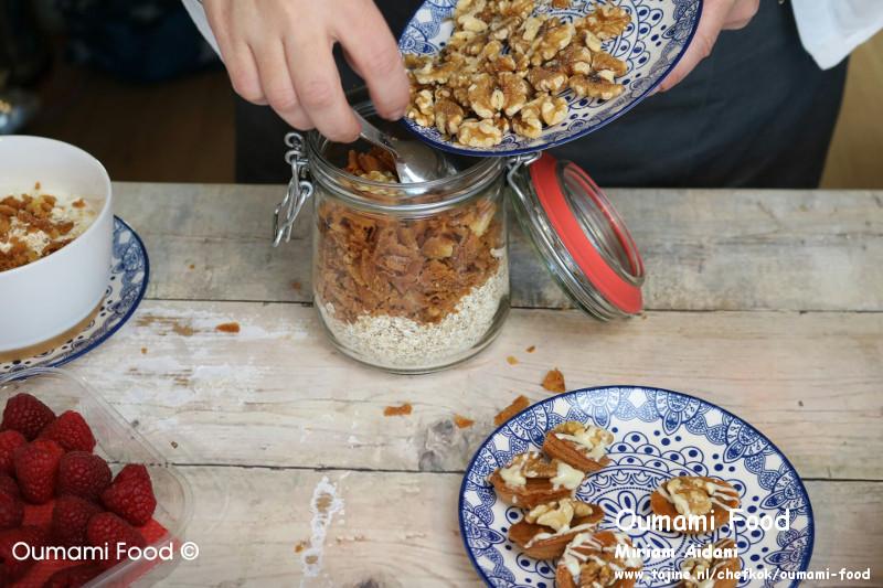 Lang houdbare walnootkoekjes koekjes havermout walnoten luchtdichte pot