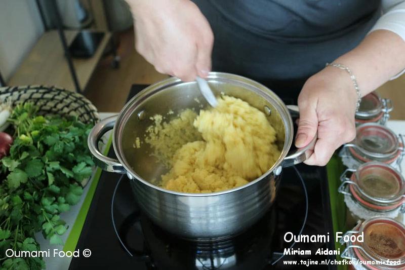 Couscous salade couscous roeren op zachte vuur
