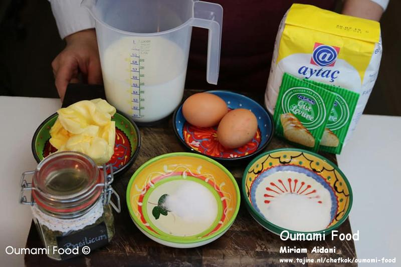 Gehaktbroodjes met pesto en cheddarkaas ingrediënten voor deeg