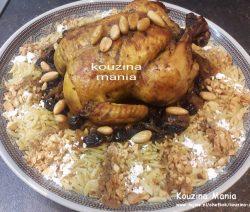 Vogeltongetjes met kip zoete ui rozijnen en amandelen