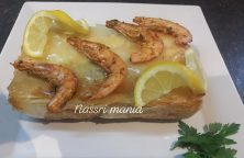 Mini vispastilla met kabeljauw scampi garnalen en fruits de mer