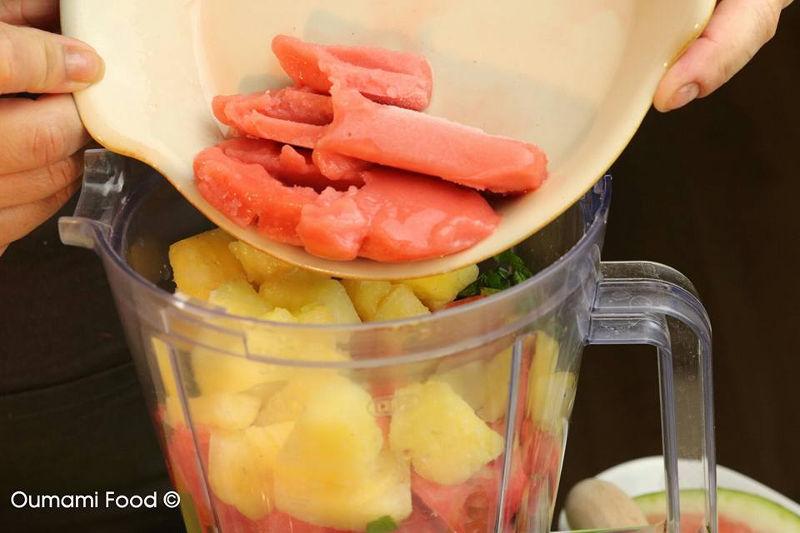 Erg verrassende frisse zomerse watermeloen shake
